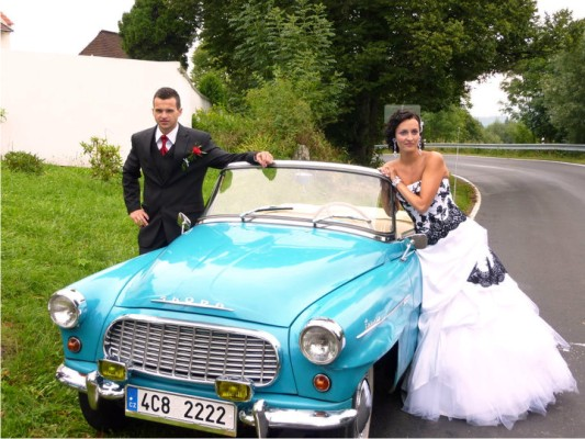 Bride Jaroslava with husband
